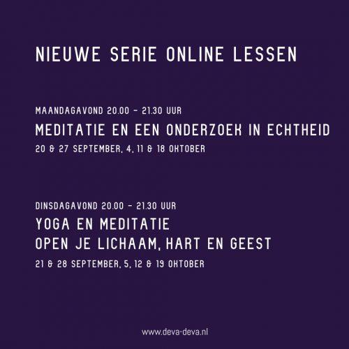 nieuwe online lessen september